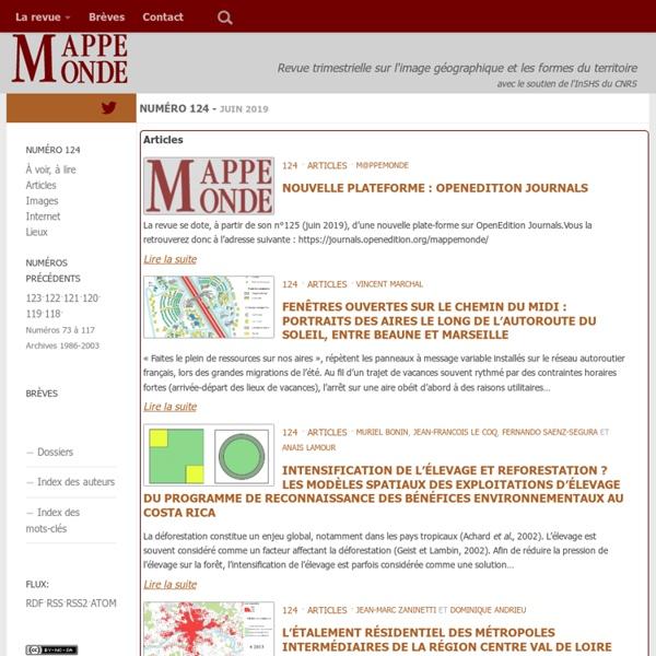 La revue Mappemonde