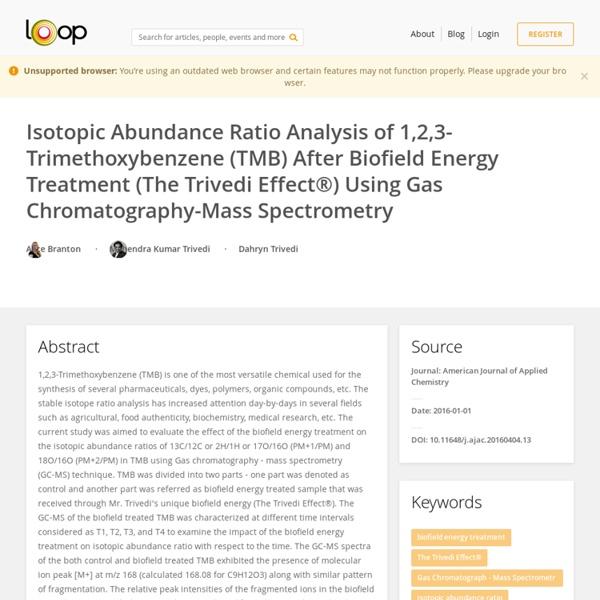 1,2,3-Trimethoxybenzene Applications after Biofield Energy Treatment