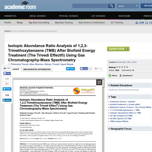 Biofied Energy Analysis on 1,2,3-Trimethoxybenzene through GC-MS Spectra