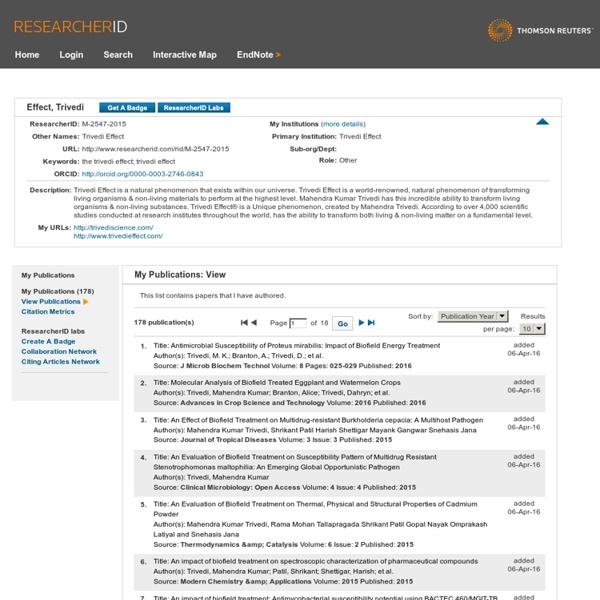 Follow Trivedi Effect on ResearcherID.com