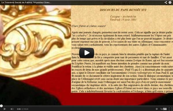 Le Troisième Secret de Fatima, l'imposteur Soeur Lucie, et la Fin du Monde