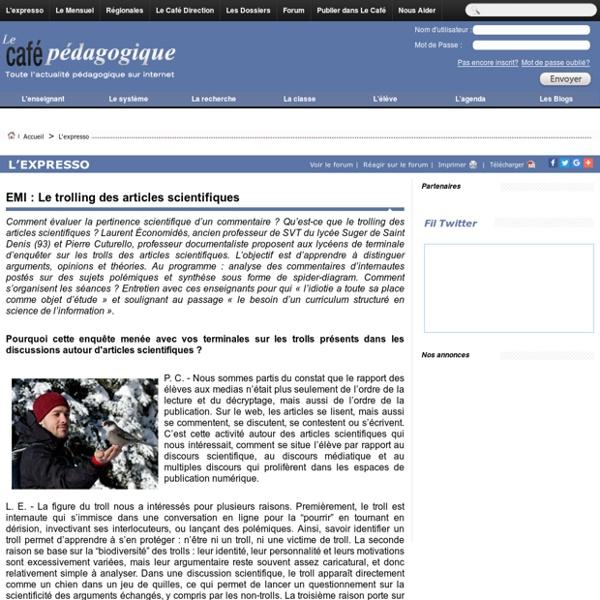 EMI : Le trolling des articles scientifiques