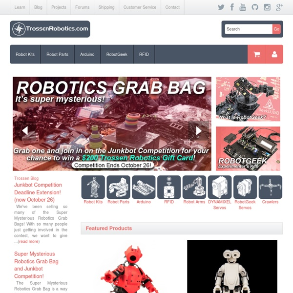 Trossen Robotics - World's leading robot shop for robot kits and robot parts!