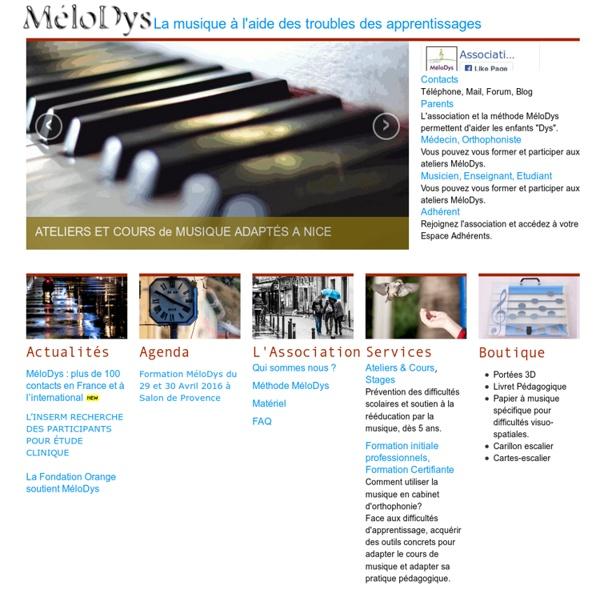 MéloDys - La musique à l'aide des troubles des apprentissages