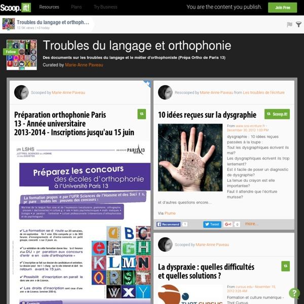Troubles du langage et orthophonie