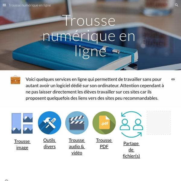 Trousse numérique en ligne