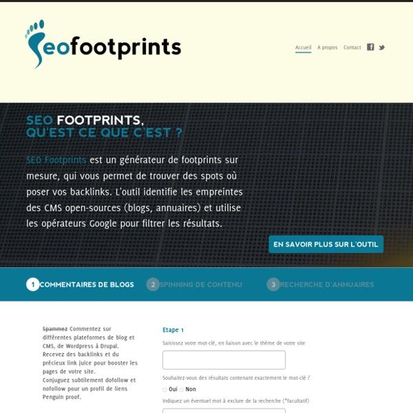 Outil SEO > trouver des backlinks
