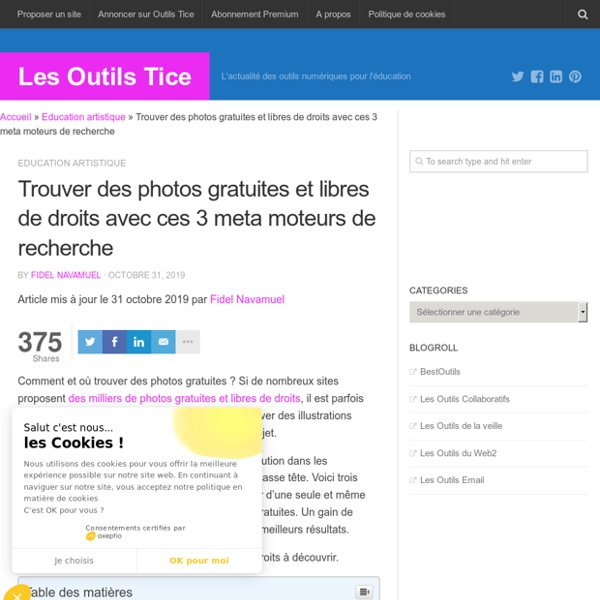 Trouver des photos gratuites et libres de droits avec ces 3 meta moteurs de recherche