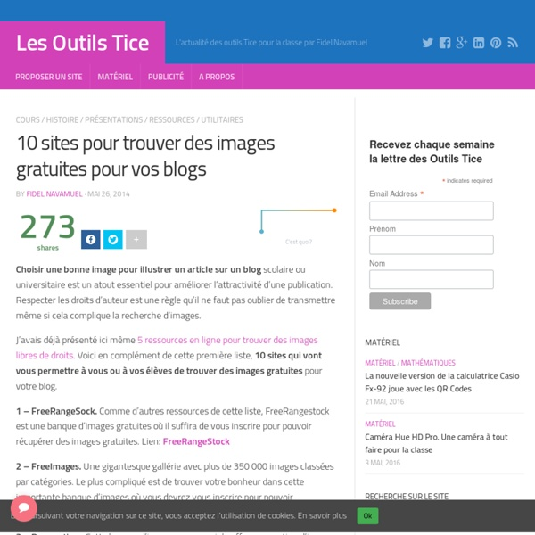 10 sites pour trouver des images gratuites pour vos blogs