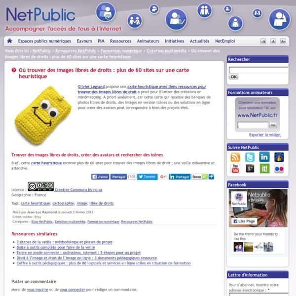 Où trouver des images libres de droits : plus de 60 sites sur une carte heuristique