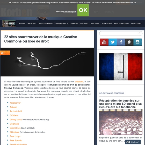 22 sites pour trouver de la musique Creative Commons ou libre de droit «