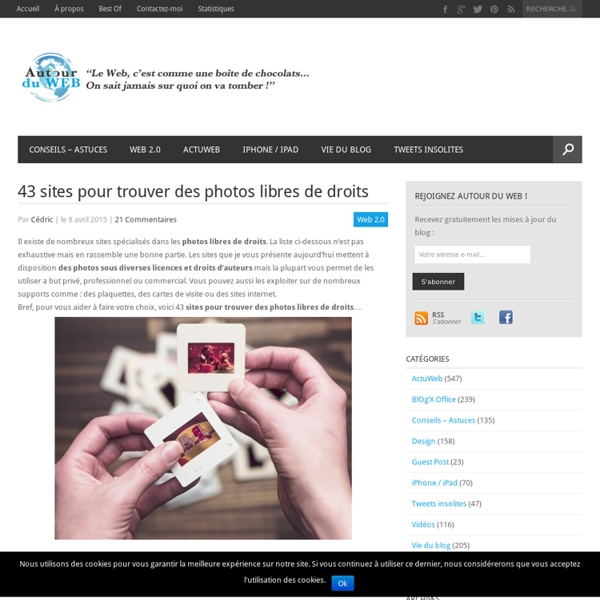 40 sites pour trouver des photos libres de droits pearltrees for Site pour trouver des hotels