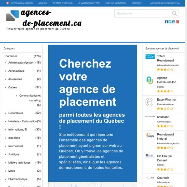 Trouvez une agence de placement au Québec