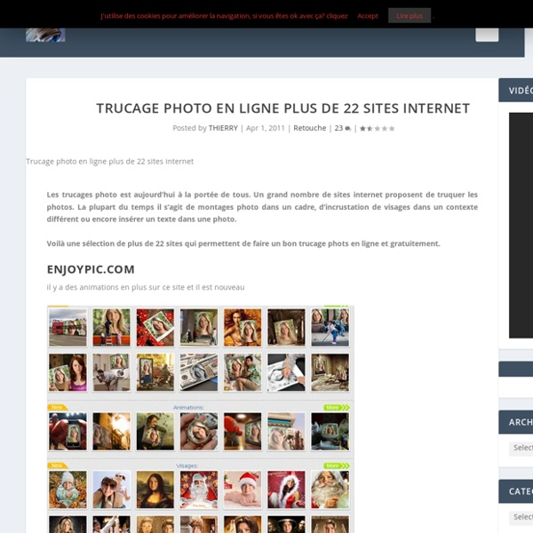Trucage photo en ligne plus de 22 sites internet
