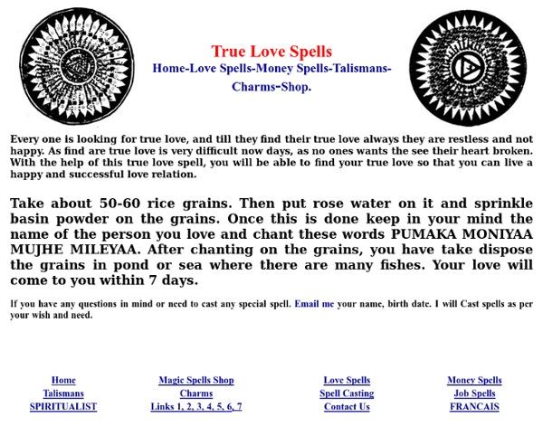 Magic Spell Words For Love
