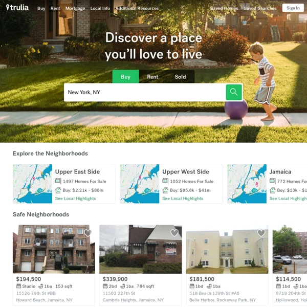 Trulia - Real Estate, Homes for Sale, Sold Properties, Apartments for Rent