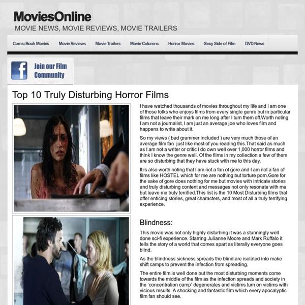Top 10 Truly Disturbing Horror Films