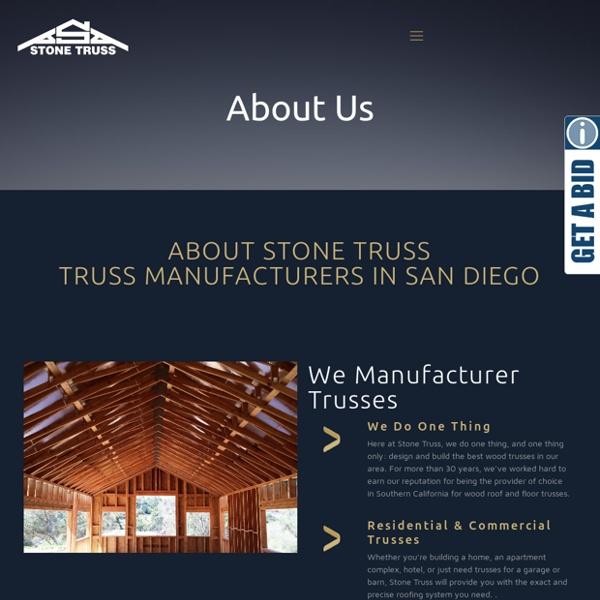 Stone Truss, Truss Manufacturers