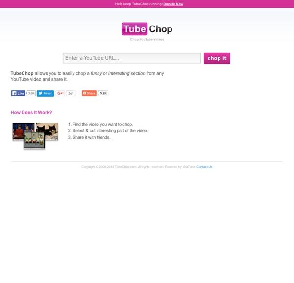 TubeChop - Chop YouTube Videos