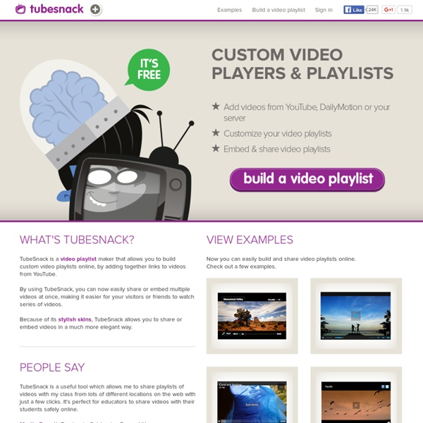 TubeSnack - Flash video player for Web - Embed YouTube playlists