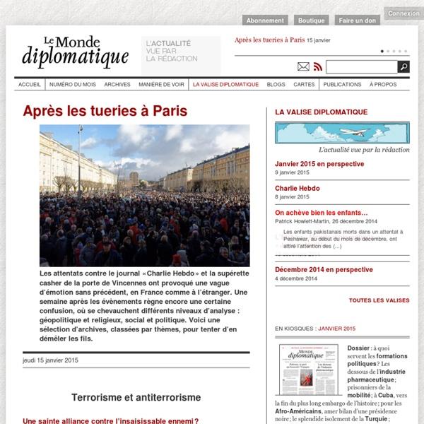 Après les tueries à Paris (Le Monde diplomatique, 15 janvier 2015)
