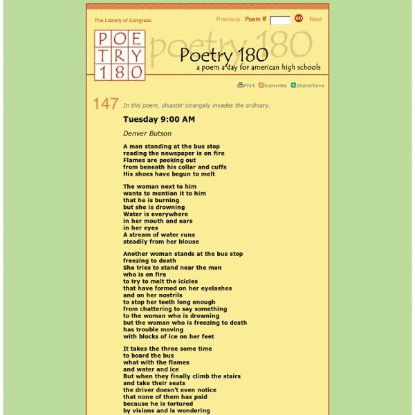 Poetry 180 - Tuesday 9:00 AM - StumbleUpon