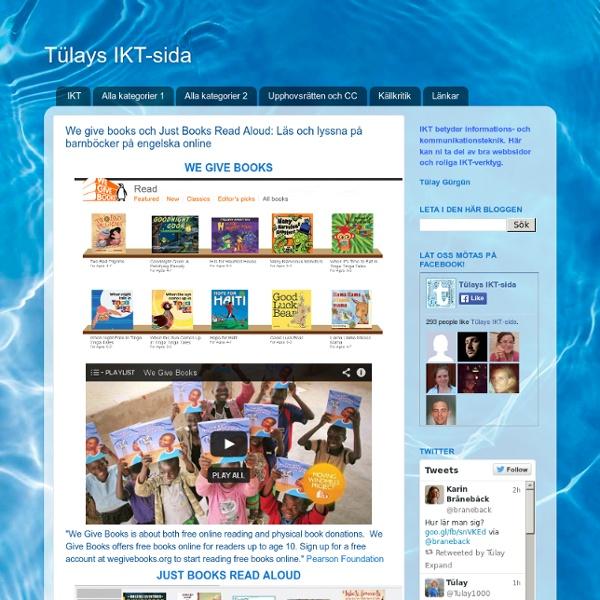 We give books och Just Books Read Aloud: Läs och lyssna på barnböcker på engelska online