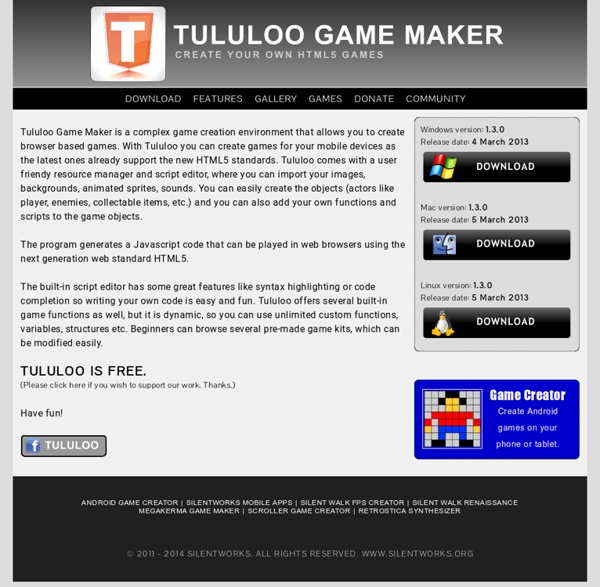 Tululoo HTML5 Game Maker