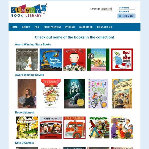 TumbleBooks - eBooks for eKids!