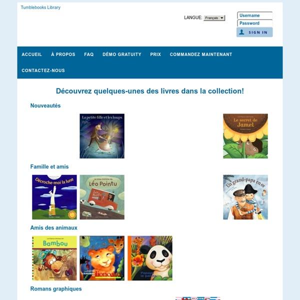 TumbleBooks - Cyber-livres pour cyber-enfants