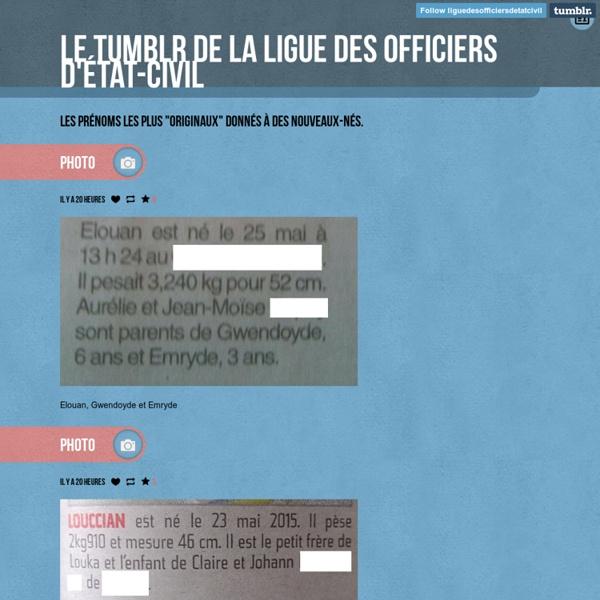 Le Tumblr de la Ligue des officiers d'état-civil