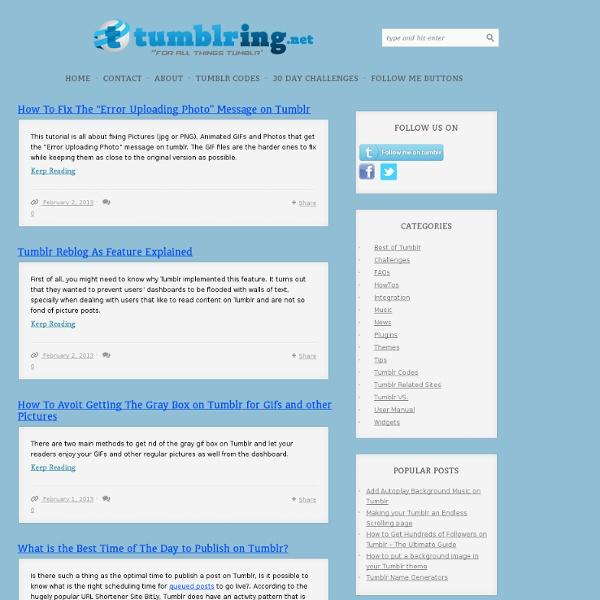 Tumblring - All things Tumblr