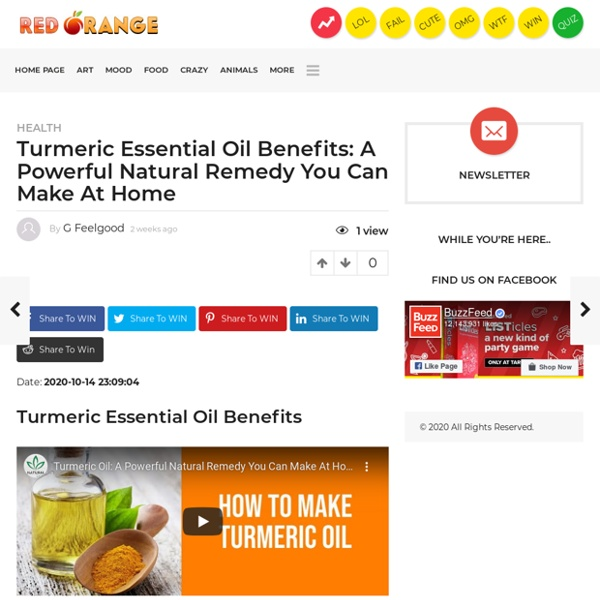 Amazing Benefits of Tumeric Essential Oil, and Why you too Should Try it at Home!
