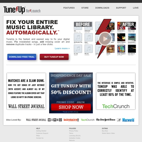 TuneUp - Your Music Collection's New Best Friend
