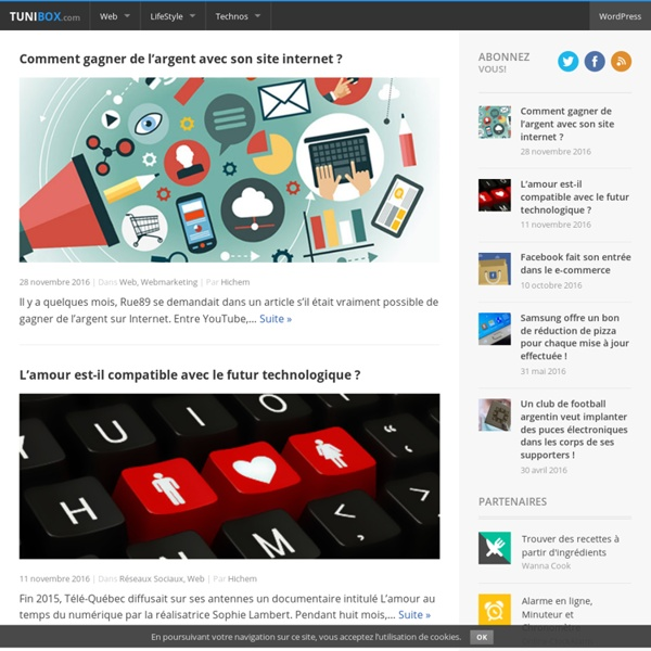 TuniBox - Magazine Web 2.0