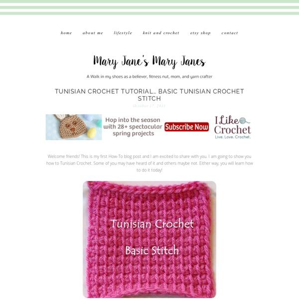 Crocheting the Day Away: Tunisian Crochet How-To… Basic Tunisian Crochet Stitch