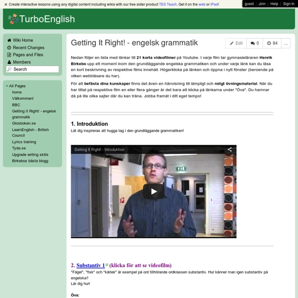 TurboEnglish - Getting It Right! - engelsk grammatik