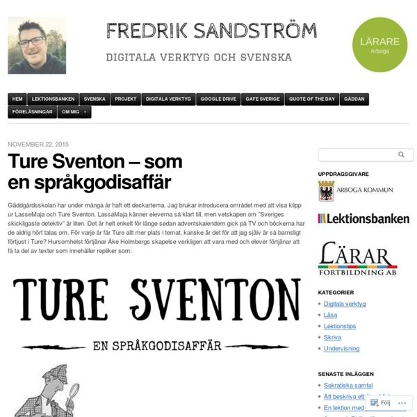 Ture Sventon – som en språkgodisaffär