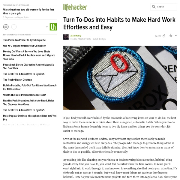 Turn To-Dos into Habits to Make Hard Work Effortless and Easy