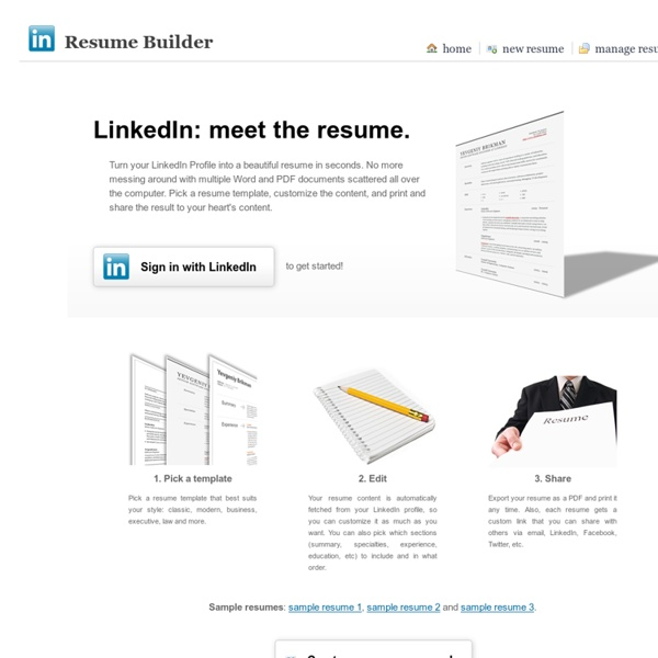 Turn your LinkedIn Profile into a Resume