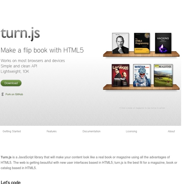 Turn.js: The page flip effect in HTML5