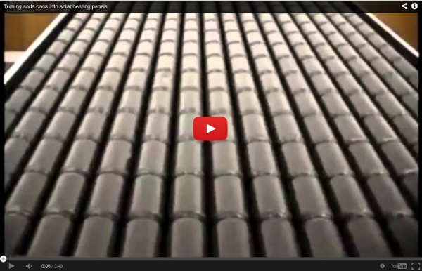 Turning soda cans into solar heating panels