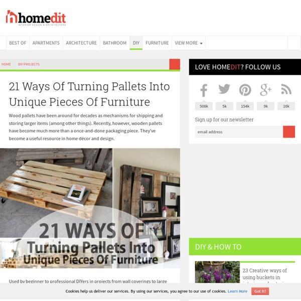 25 façons de faire des pièces de mobilier uniques à partir de palettes