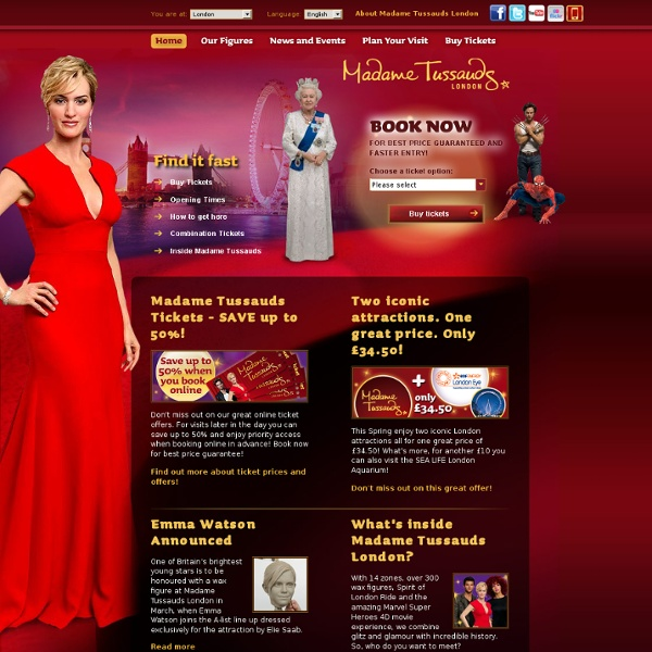 Madame Tussauds™ London - Official site. Best price guarantee.