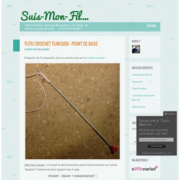 Tuto Crochet Tunisien : point de base