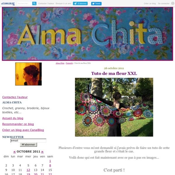 Tuto de ma fleur XXL - Alma Chita