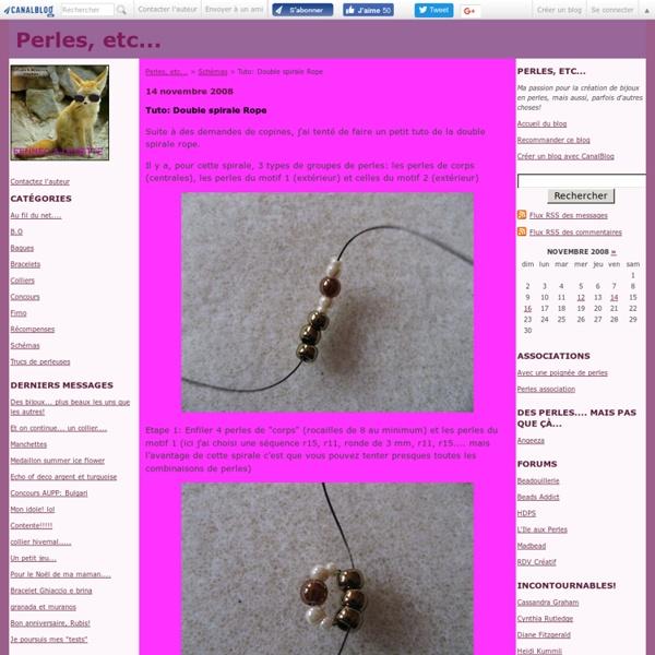Tuto: Double spirale Rope - Perles, etc...