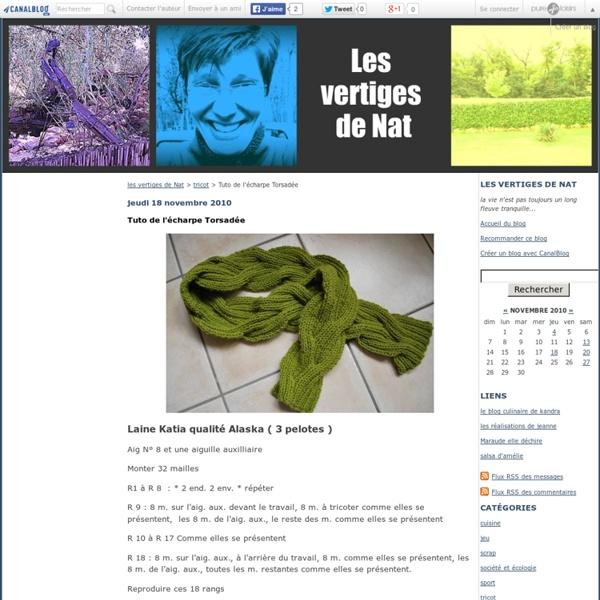 Tuto de l'écharpe Torsadée - les vertiges de Nat