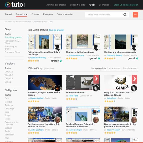 GIMP , 214 tutoriels vidéo Gimp sur TUTO