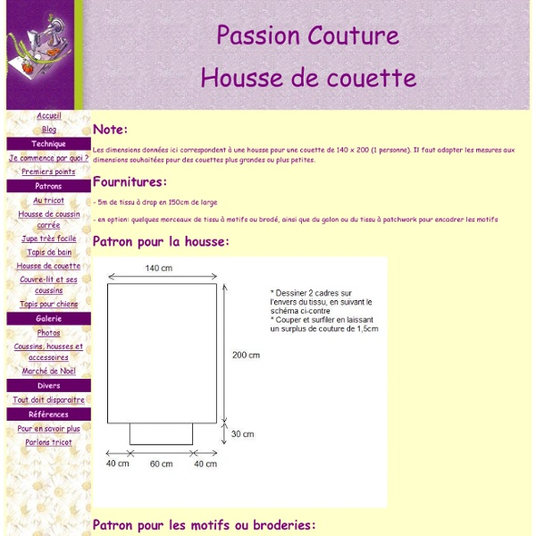 tuto pour housse de couette pearltrees. Black Bedroom Furniture Sets. Home Design Ideas